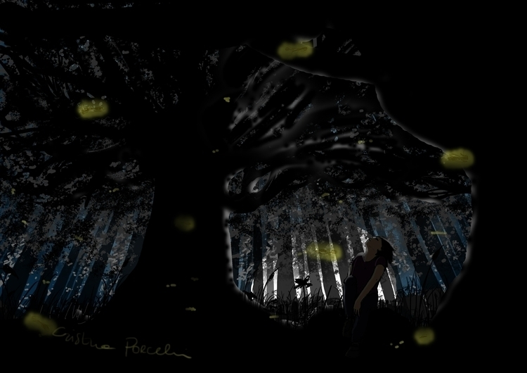 black forest - digitalpainting, illustration - cristinaporcelli | ello