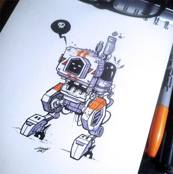 POW - sketch, robot, traditional - adhityazul-2567 | ello