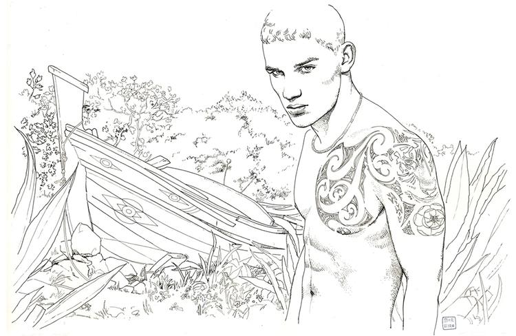 illustration, drawing - enriquemoreiro | ello