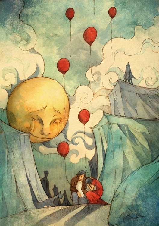 places - love,illustration,balloons - azisanoor | ello