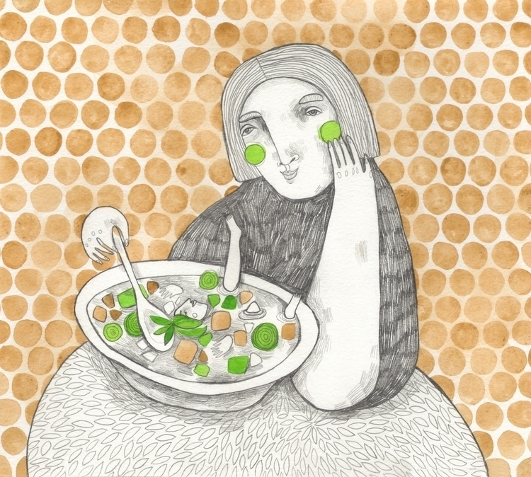 Friendly cabbage-girl - drawing - msarte | ello