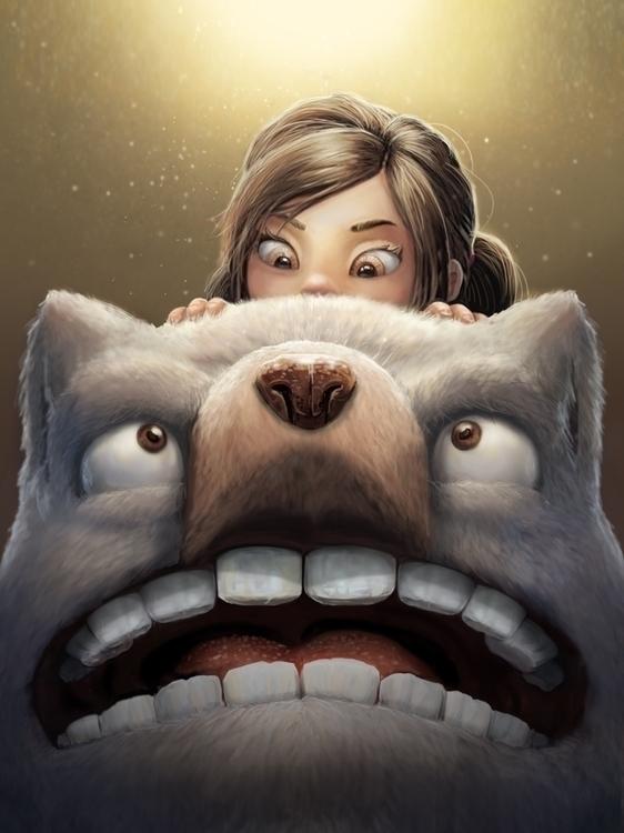 girl monster - illustration, painting - bryan-8334 | ello
