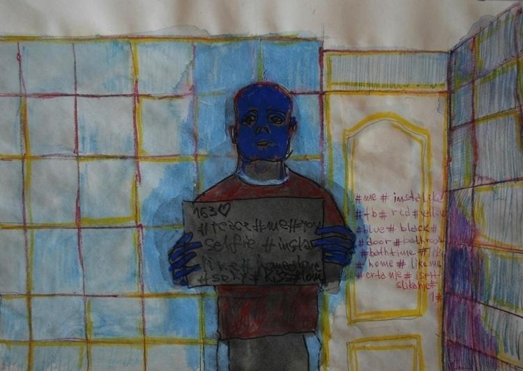 ,,Selfovanje 18.''; mixed media - ivanmitic | ello