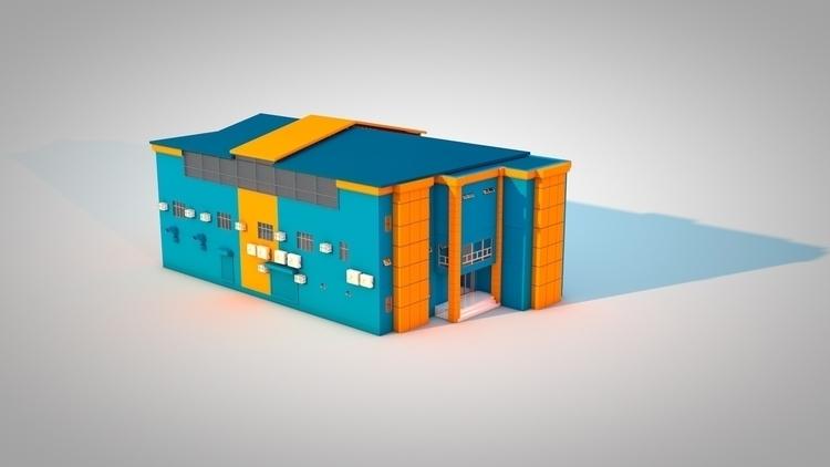 School Building - 3d, 3drendering - kniknox | ello