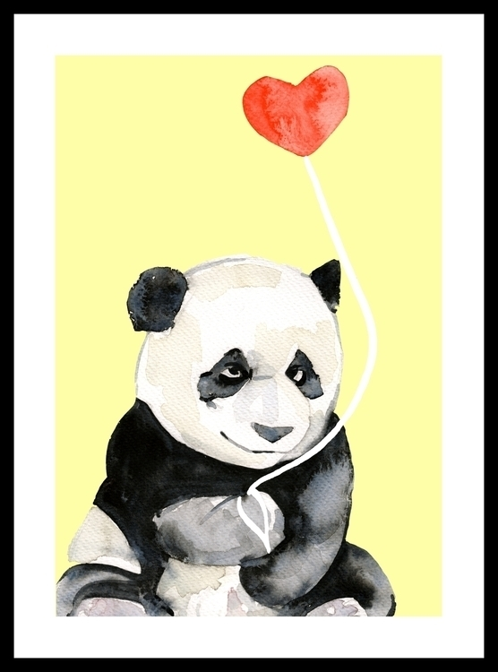 Cub Panda - illustration, painting - sianjordan | ello