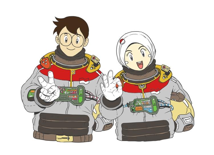 Astro - illustration, drawing - vidiyan   ello