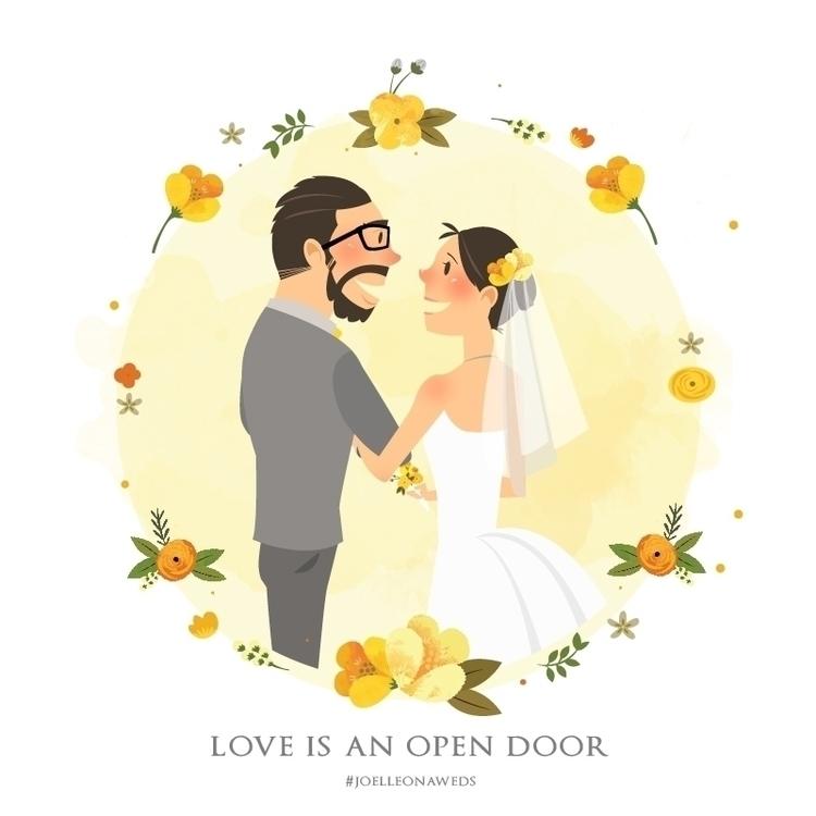 Joel + Leona - illustration, drawing - theartofjoannepoon | ello