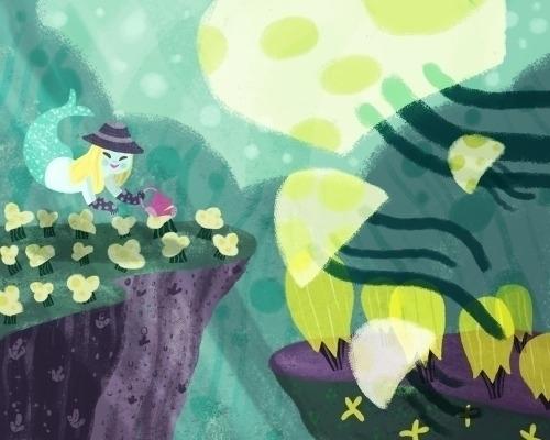 underwater garden - mermaid, jellyfish - caileytervo | ello