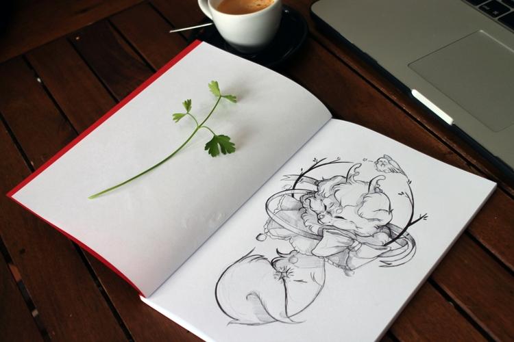 Commissioned sketch - commission - uru-1113 | ello
