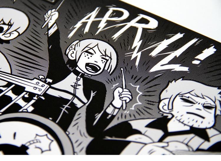 Closeup Scott Pilgrim calendar  - austineustice | ello