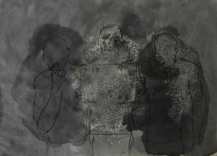,,Selfovanje 35.''; ink paper;  - ivanmitic | ello