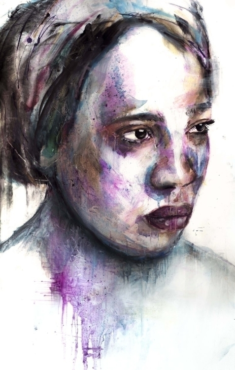 Dissolve - mixedmedia, watercolor - chrissilver | ello