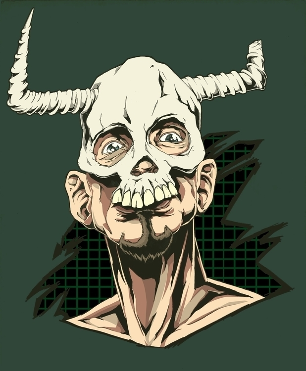 illustration, skull - farsa | ello