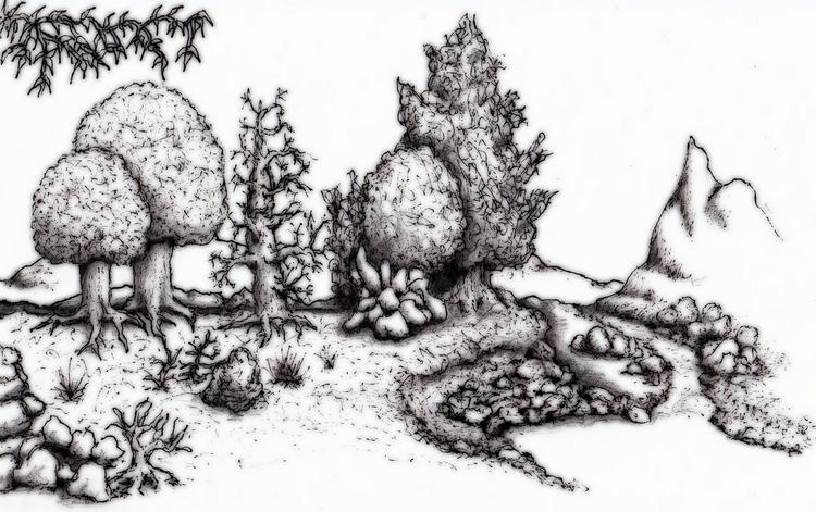 Peaceful retreat - illustration - cheechwiz   ello