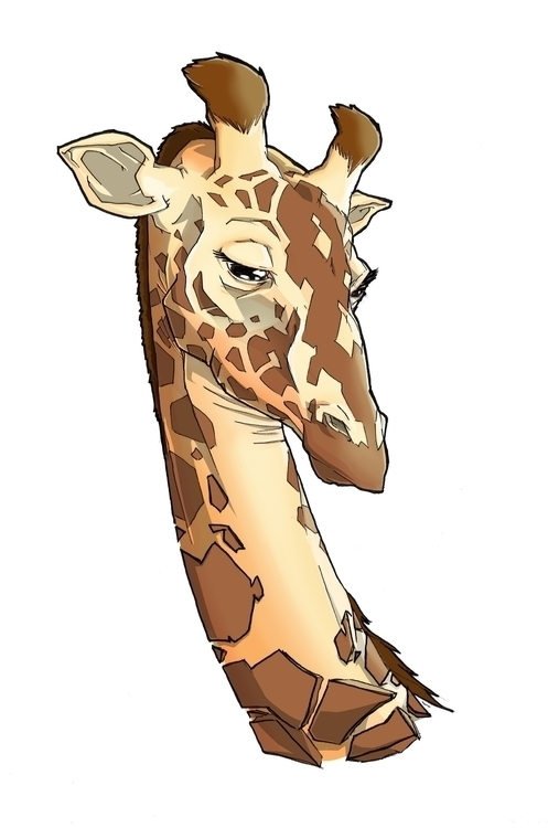 giraffe, animals, illustration - farsa | ello