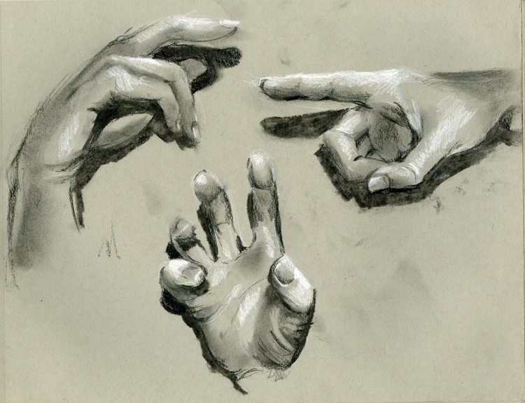 quick hand sketches Charcoal - charcoal - cmarling | ello