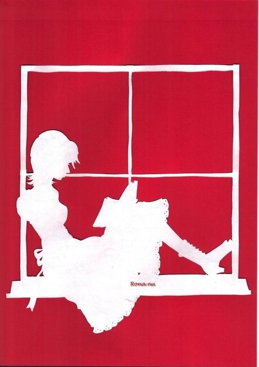 Lizzy - papercut, bookcover, illustration - rona-5961 | ello
