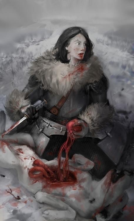 Winter thirst - illustration - doantrang-7240 | ello