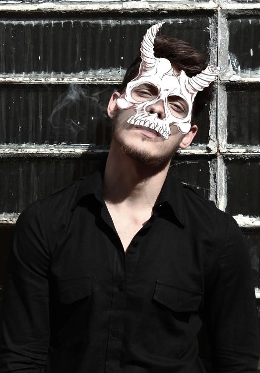 illustration, skull, mask, photography - farsa | ello