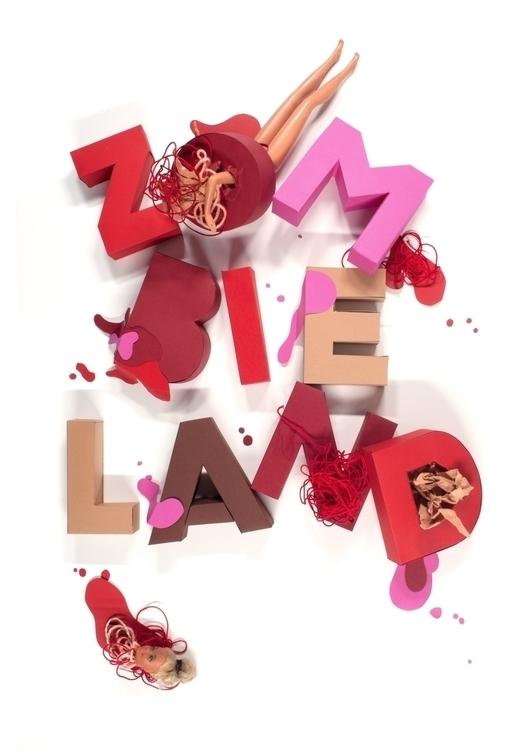 zombieland, paper, paperart, papercraft - carolin_wanitzek | ello