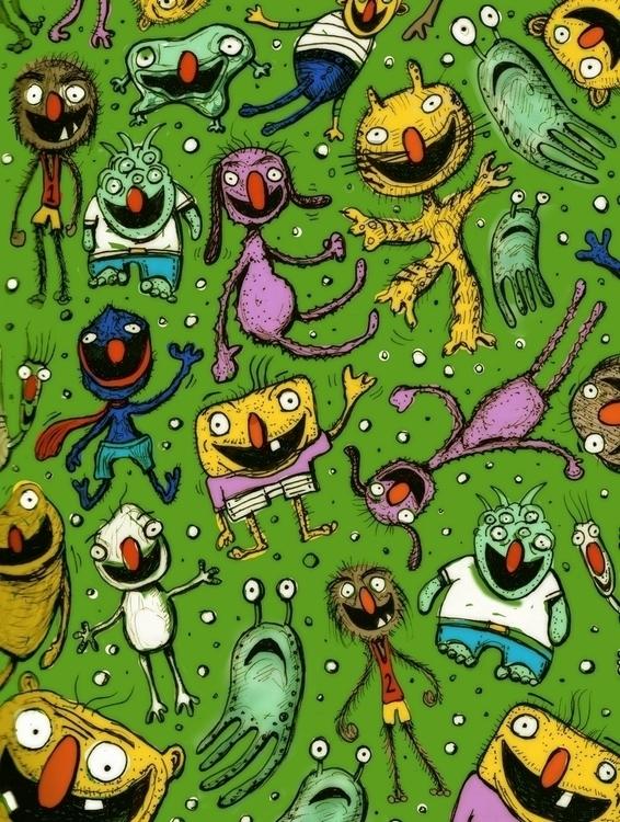 Creature doodle - drawing - rutgervandeelen | ello
