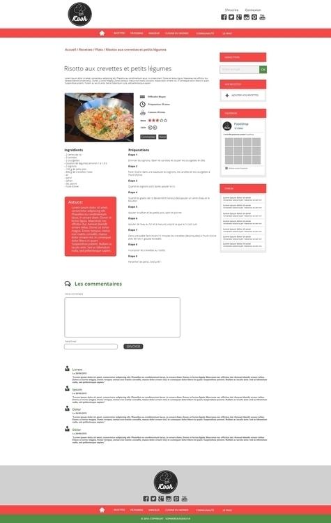 Page Recette - ICook - website, web - sophierousseau | ello