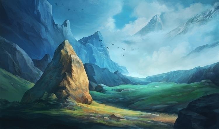 Stone - illustration, landscape - mircha | ello