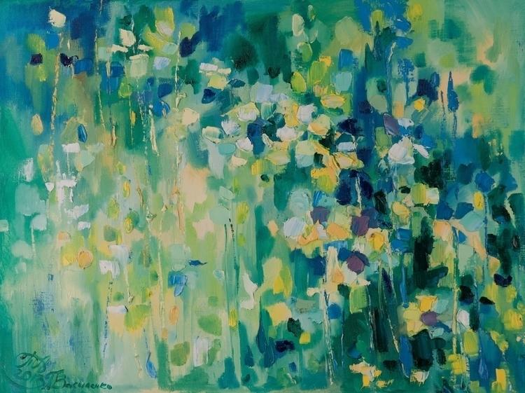 Flowering meadow 60x80 Oil canv - tanya_vasilenko | ello
