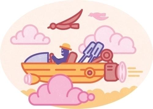 flying boat - illustration, icon - szokekissmarton-5412   ello