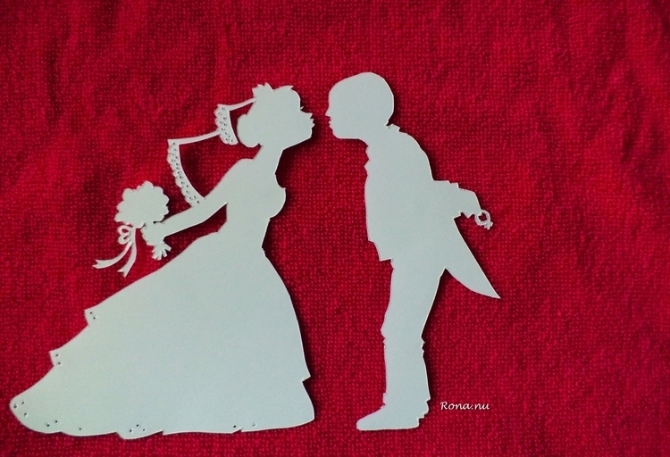 Kiss - wedding, papercut, illustration - rona-5961 | ello