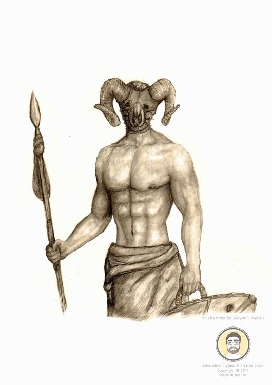 Pencil Drawing Warrior - warrior - whistlingbear | ello