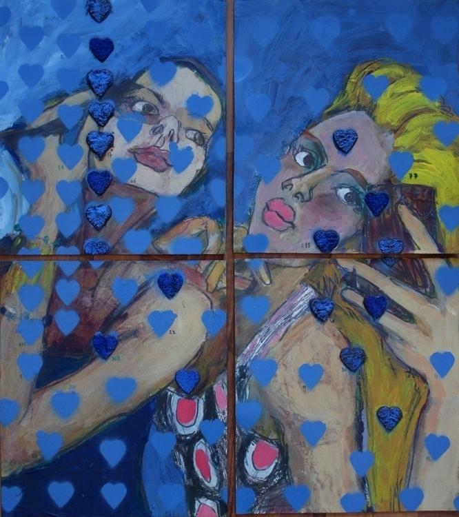 painting, hearts, selfie, hashtag - ivanmitic | ello