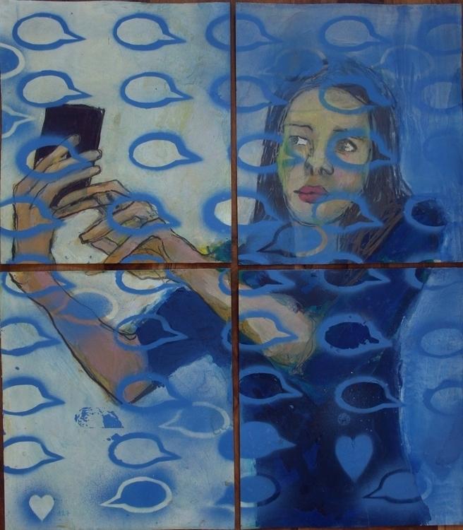 chat, selfie, mixedmedia - ivanmitic | ello