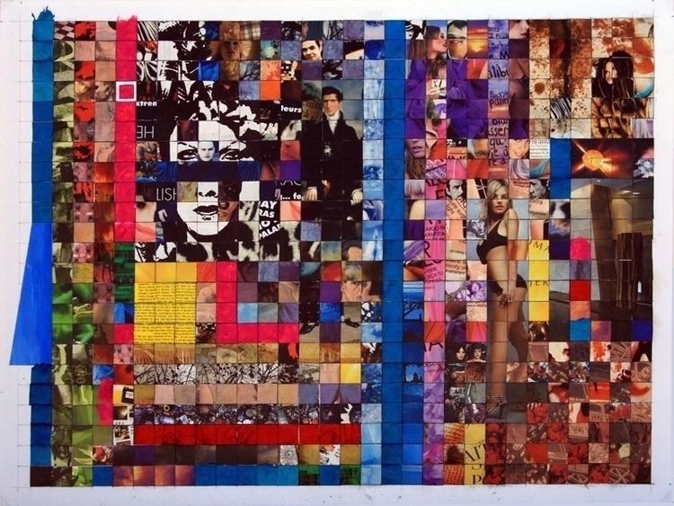 Pixels. collage sobre cardboard - luiyinoise   ello