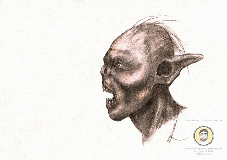 Pencil drawing orc - lordoftherings - whistlingbear | ello