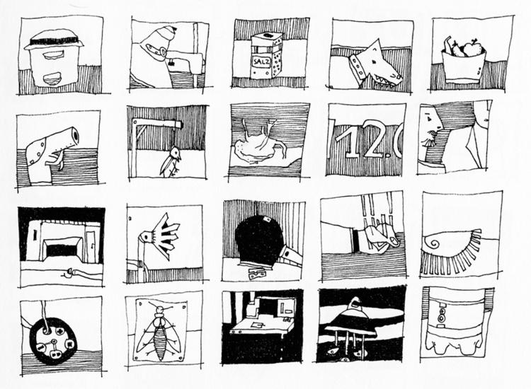 illustration, blackandwhite, stuff - tychonikum   ello