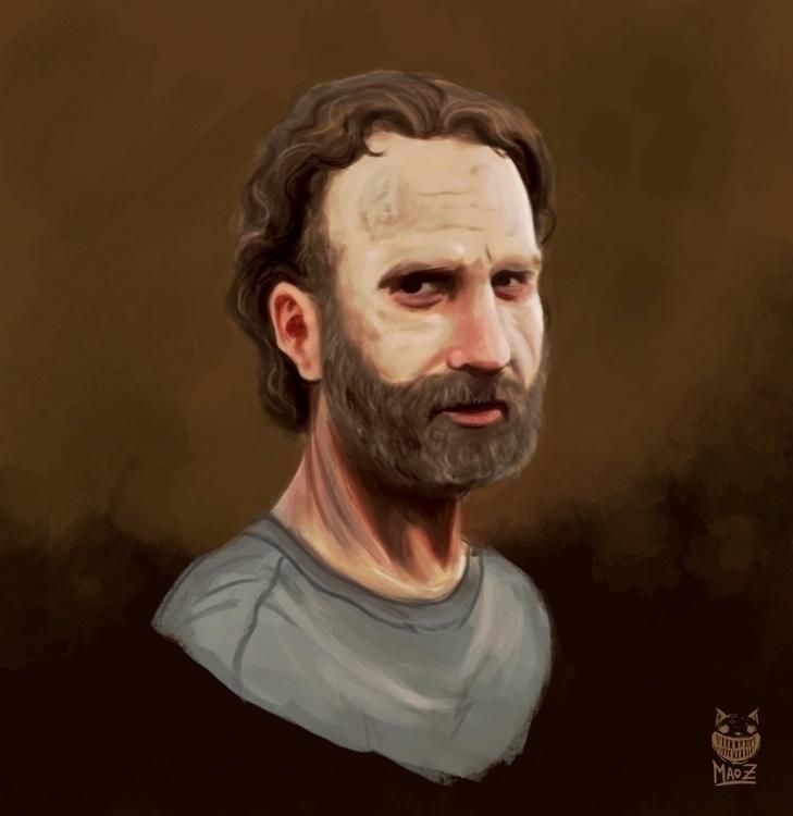 Rick Grimes FanART - illustration - maodraws | ello
