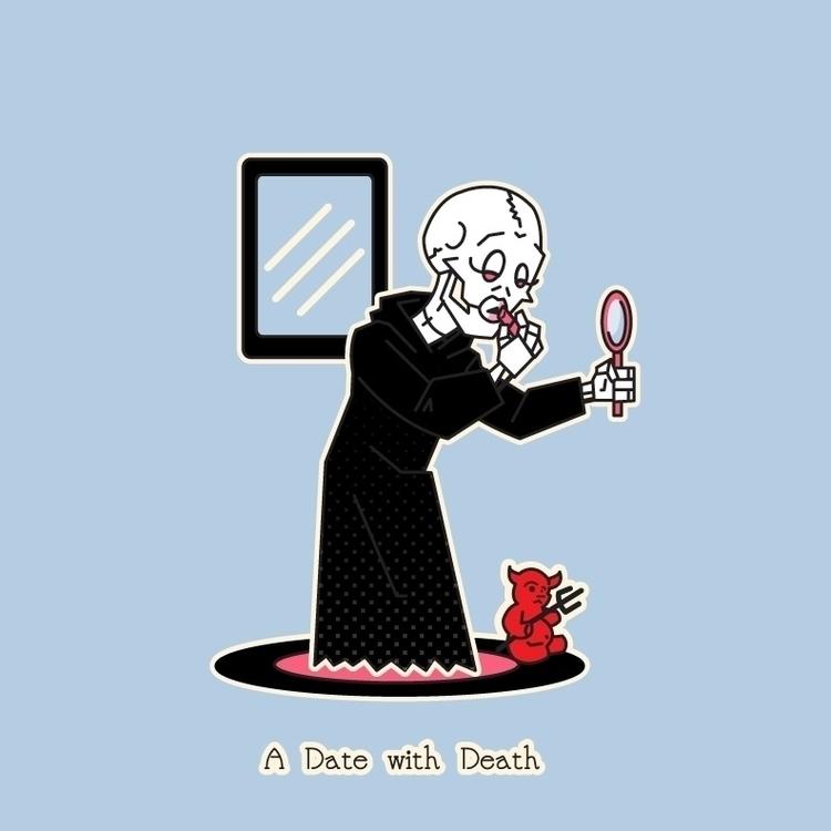 Preparing date Death - illustration - aleshawilliams | ello