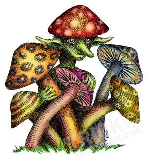 Mushroom Elf - mushroomelf, elf - trick-6303   ello