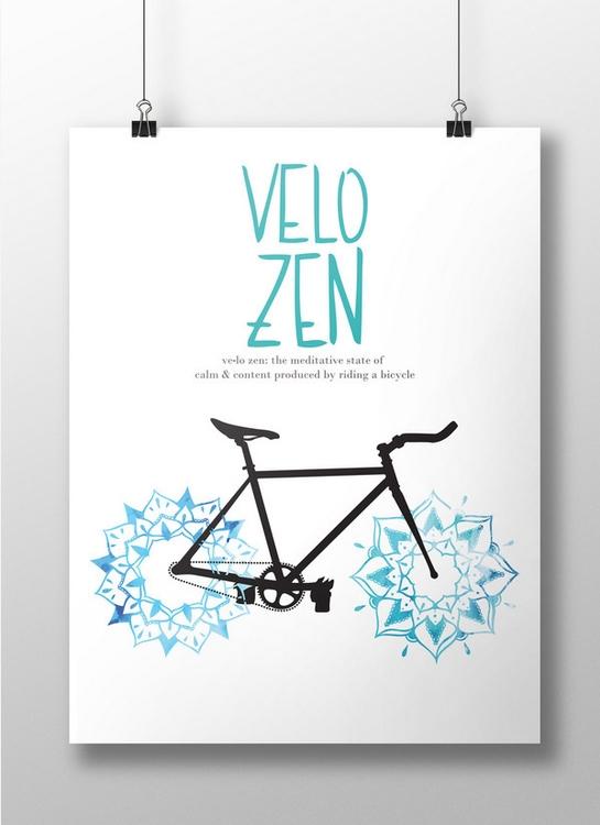 Velo Zen Bike Poster Design, pa - mariahliisa | ello