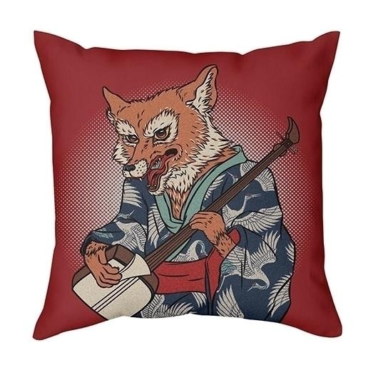 Kicune - fox, music, japanese, textiledesign - arisuber | ello