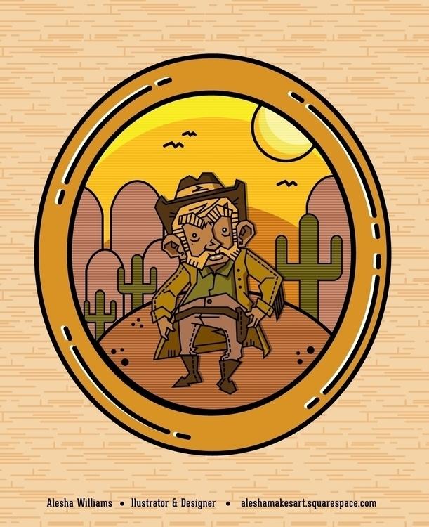 Cowboy - illustration, drawing, digitalart - aleshawilliams | ello