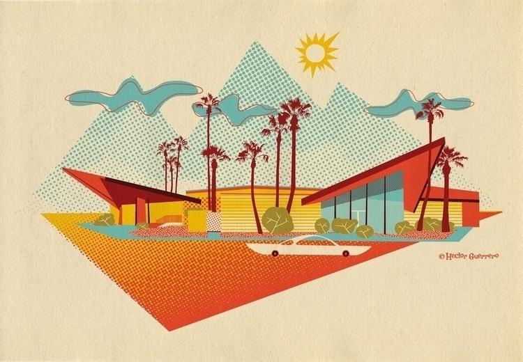 illustration inspired Googie-st - apeles | ello