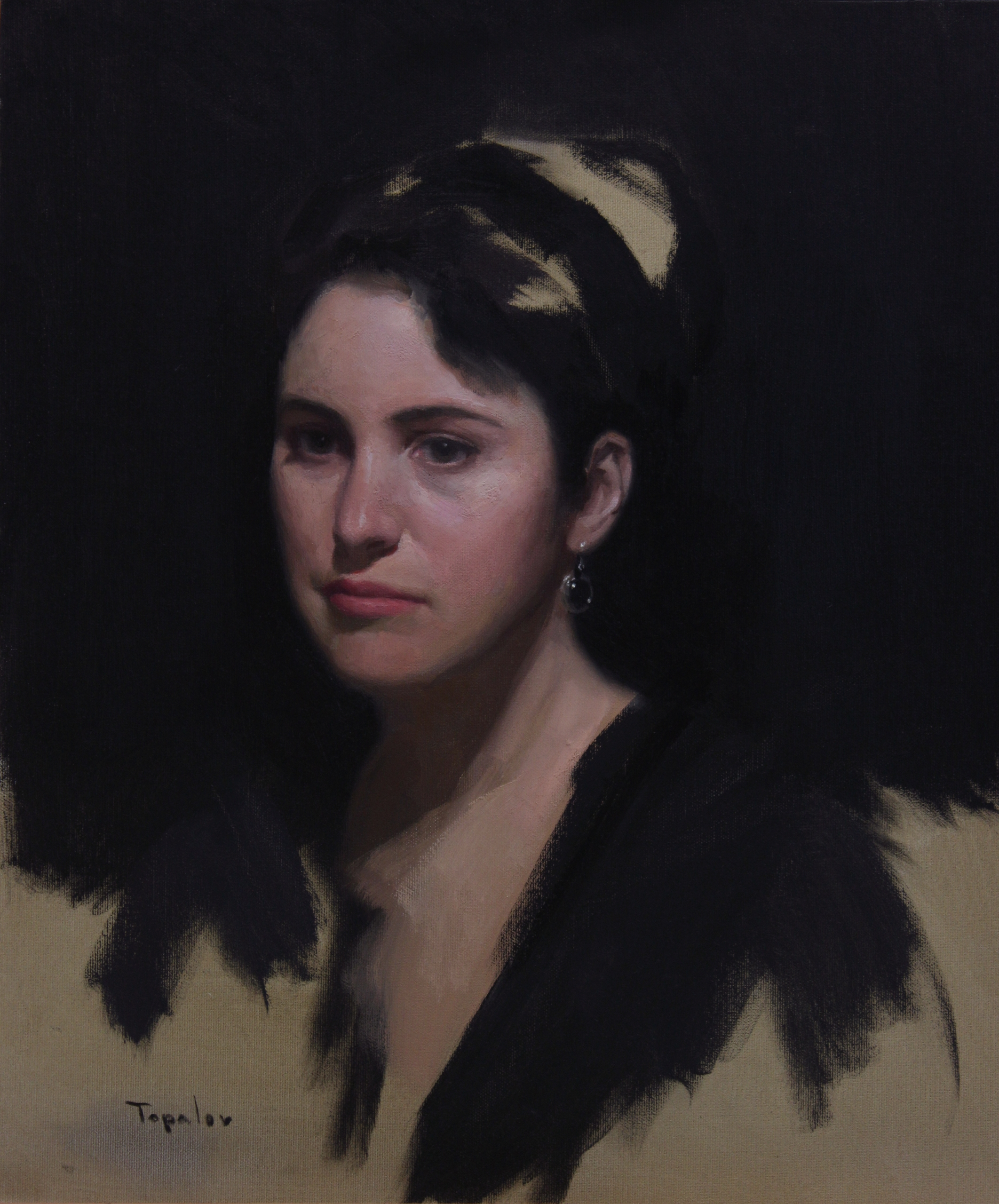 Effy - oil canvas - portrait, portraiture - rtopalov | ello