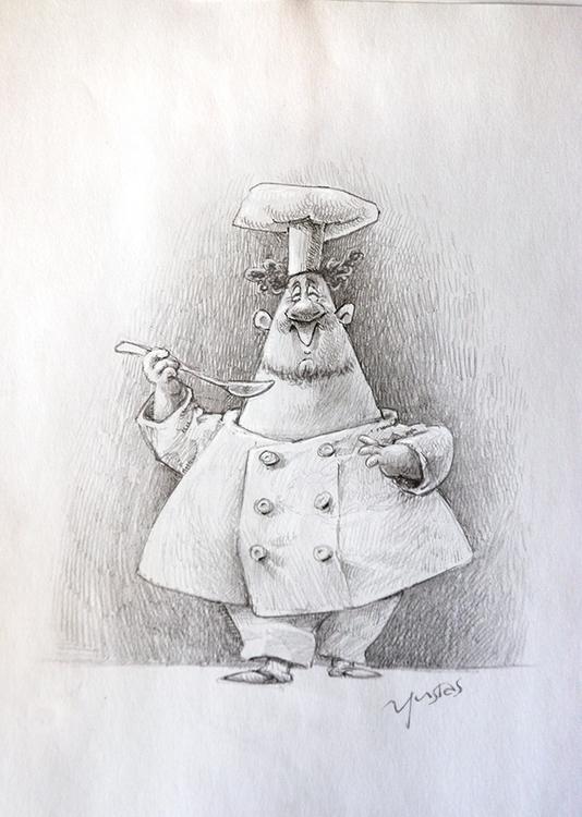 cook - scetch, characterdesign - yustas | ello