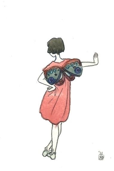 Poppy fairy - illustration, painting - serenedaoud | ello