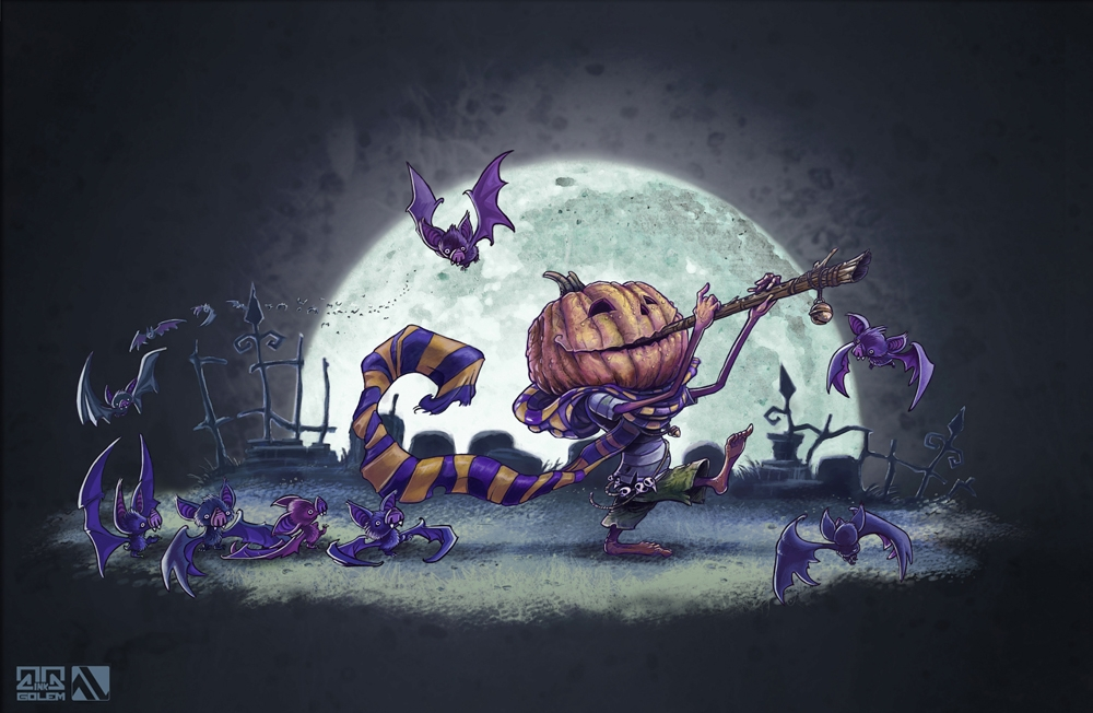 Pied Piper Halloween - piedpiper - inkgolem | ello