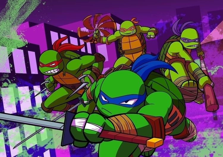 tmnt, fanart, turtles, print - brothertico | ello