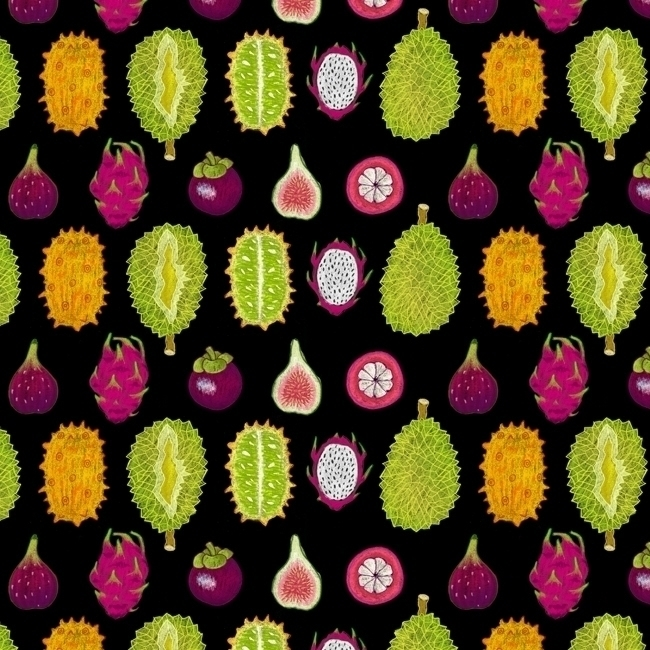strange fruits - pattern, patterndesign - stephaniekubo-8873 | ello