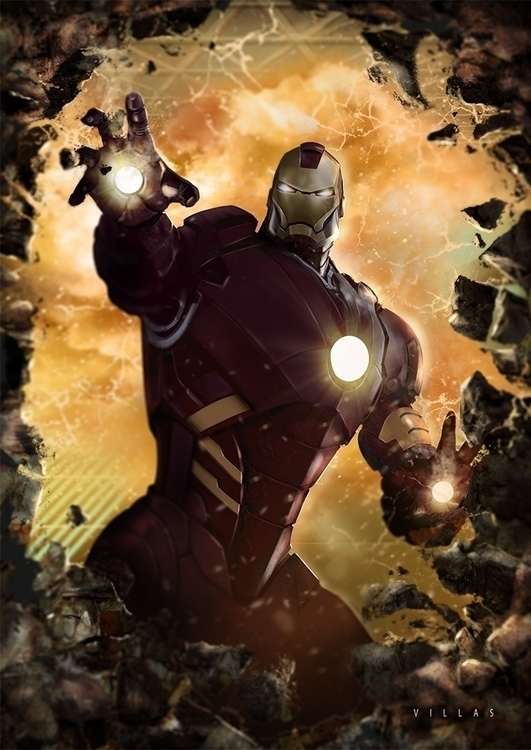 IRON MAN - illustration, painting - carlosvillas | ello